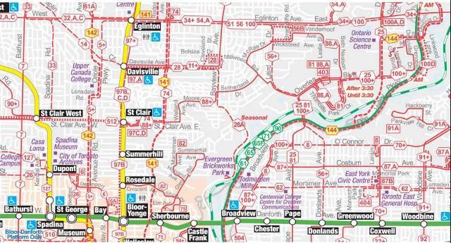 Toronto Subway Map Overlay.Updating Ttc Wayfinding Steve Munro