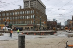 April 10: Looking NE across College & Spadina
