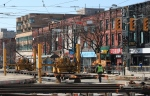 April 12: Looking S on Spadina