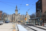 April 18: Looking N on Spadina to Knox College