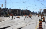 April 18: Looking SE on Spadina across College