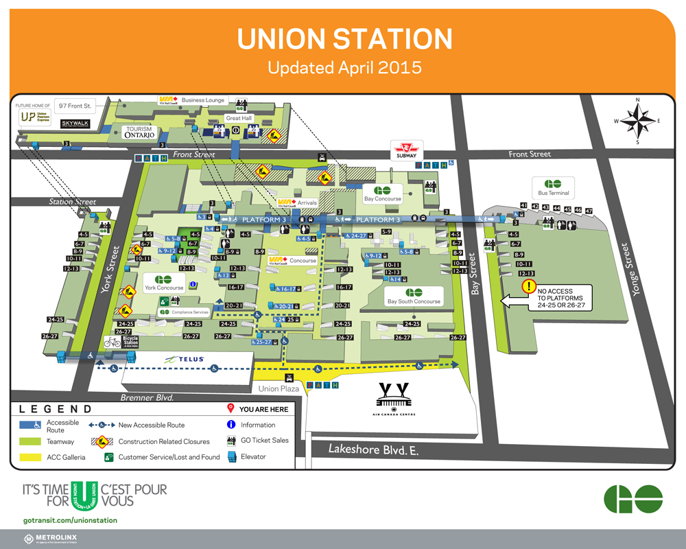 Toronto Subway Map Union Station.Union Station York Concourse Opens April 27 2015 Steve Munro