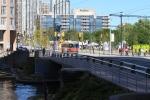 Looking east across Peter Slip Bridge