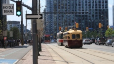 4500 and friends looking W on Queens Quay at Rees