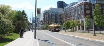 4500 EB on Queens Quay east of Dan Leckie Way