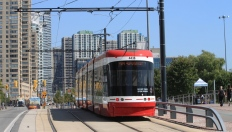 EB on Queens Quay at HTO Park.