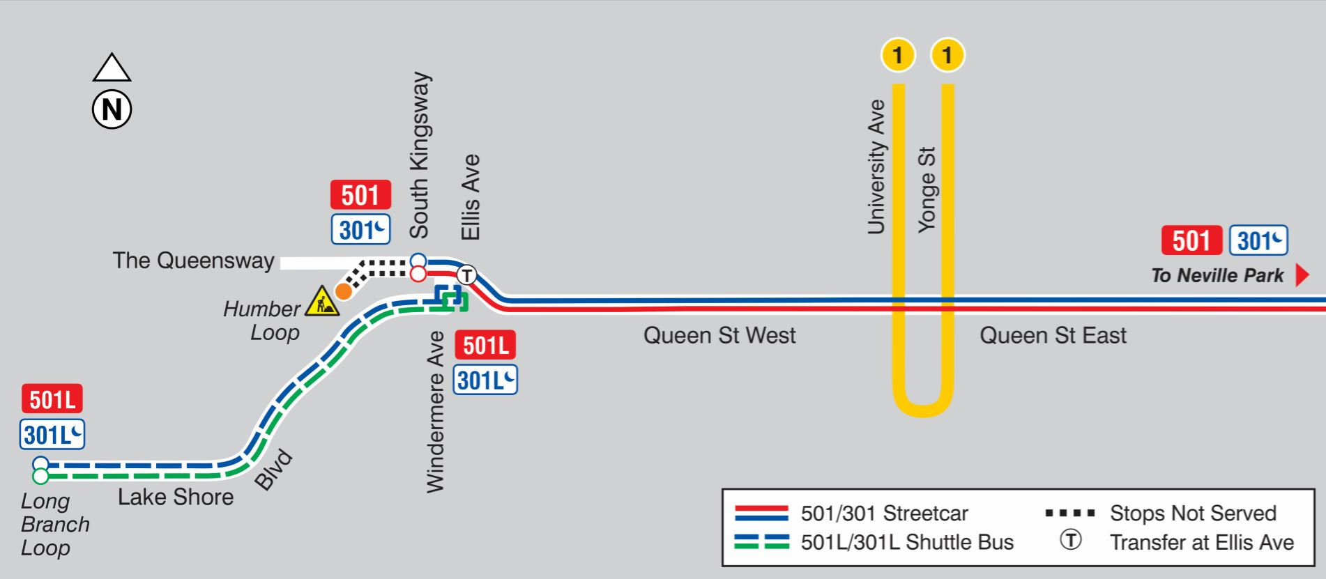 501 queen returns to humber loop – steve munro