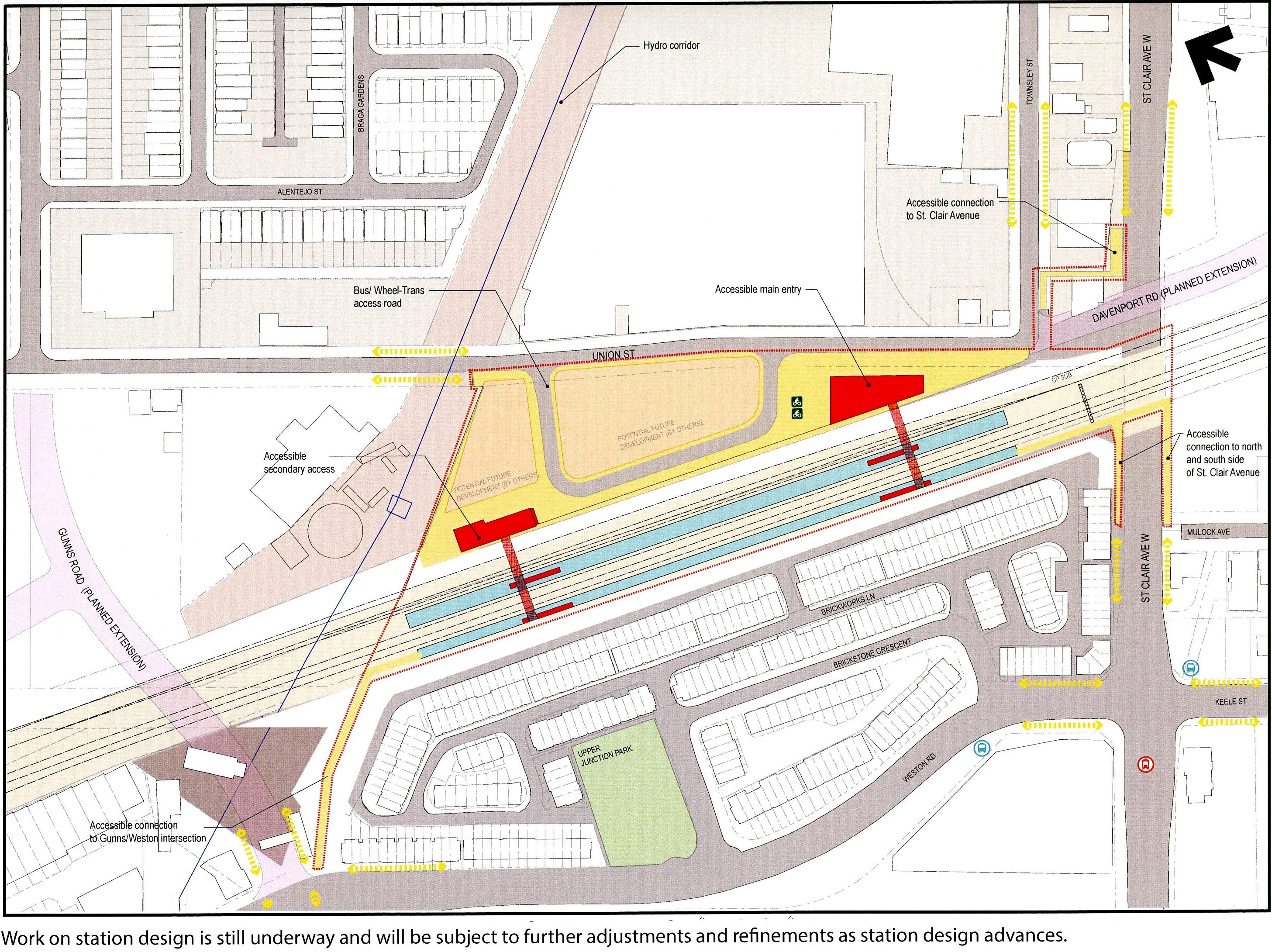 New Smarttrack Go Station Designs Steve Munro Weston Ct Wiring Diagram This Lies North Of St Clair Avenue West And East Road The Design Is Being Co Ordinated With A Transportation Master Plan Now Underway